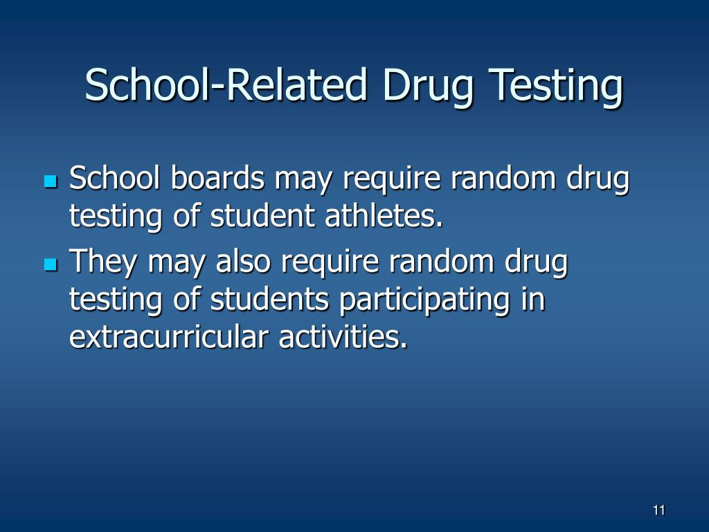 School-Related Drug Testing
