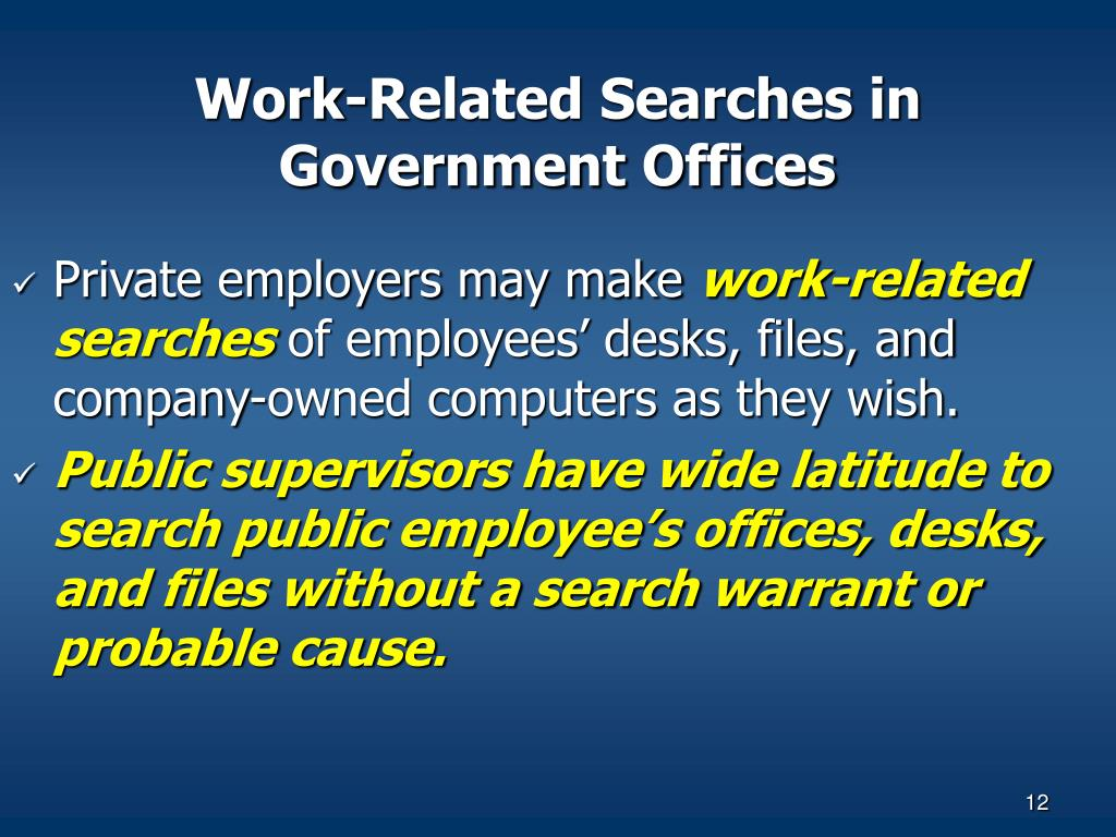 Work-Related Searches in