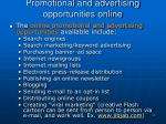promotional and advertising opportunities online1