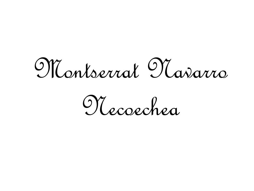 Montserrat Navarro Necoechea