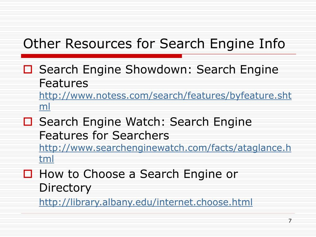 Other Resources for Search Engine Info