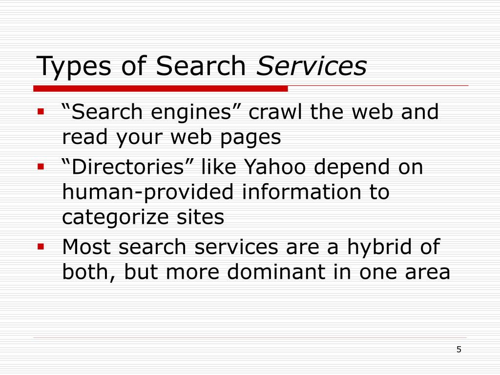 Types of Search