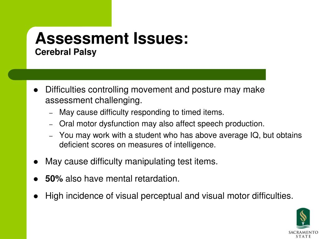 Assessment Issues: