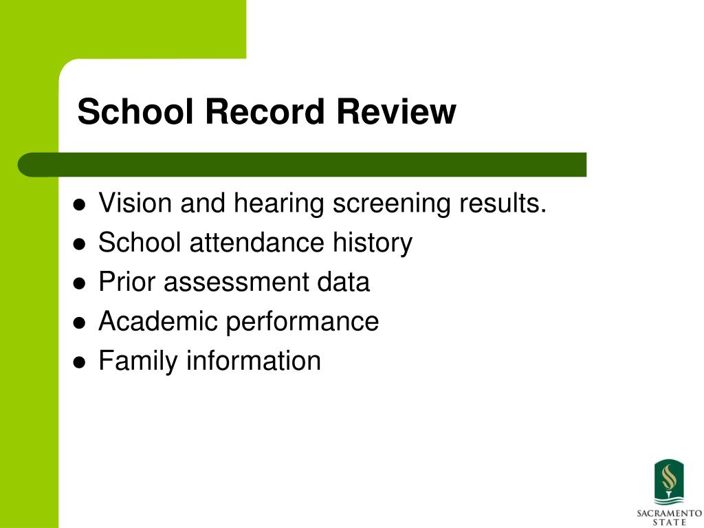 School Record Review