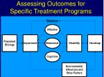 assessing outcomes for specific treatment programs