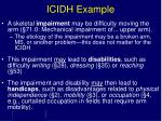 icidh example