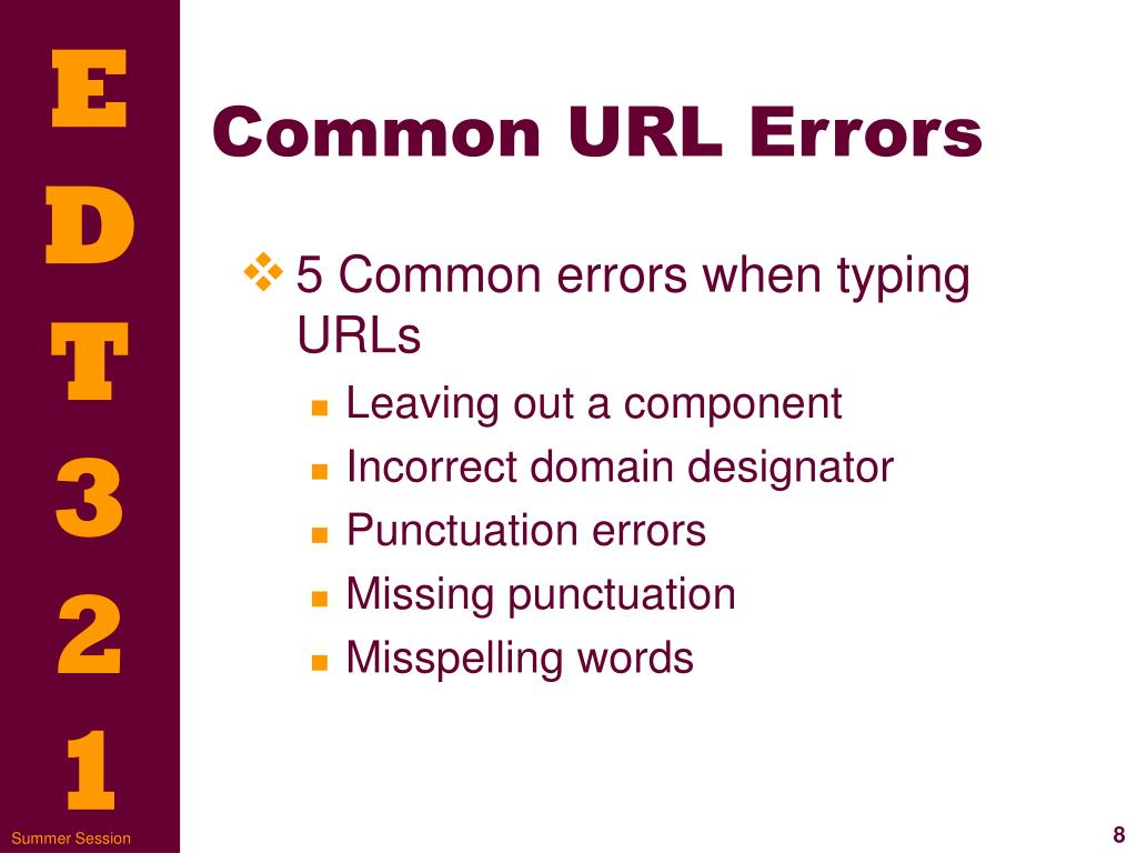 Common URL Errors