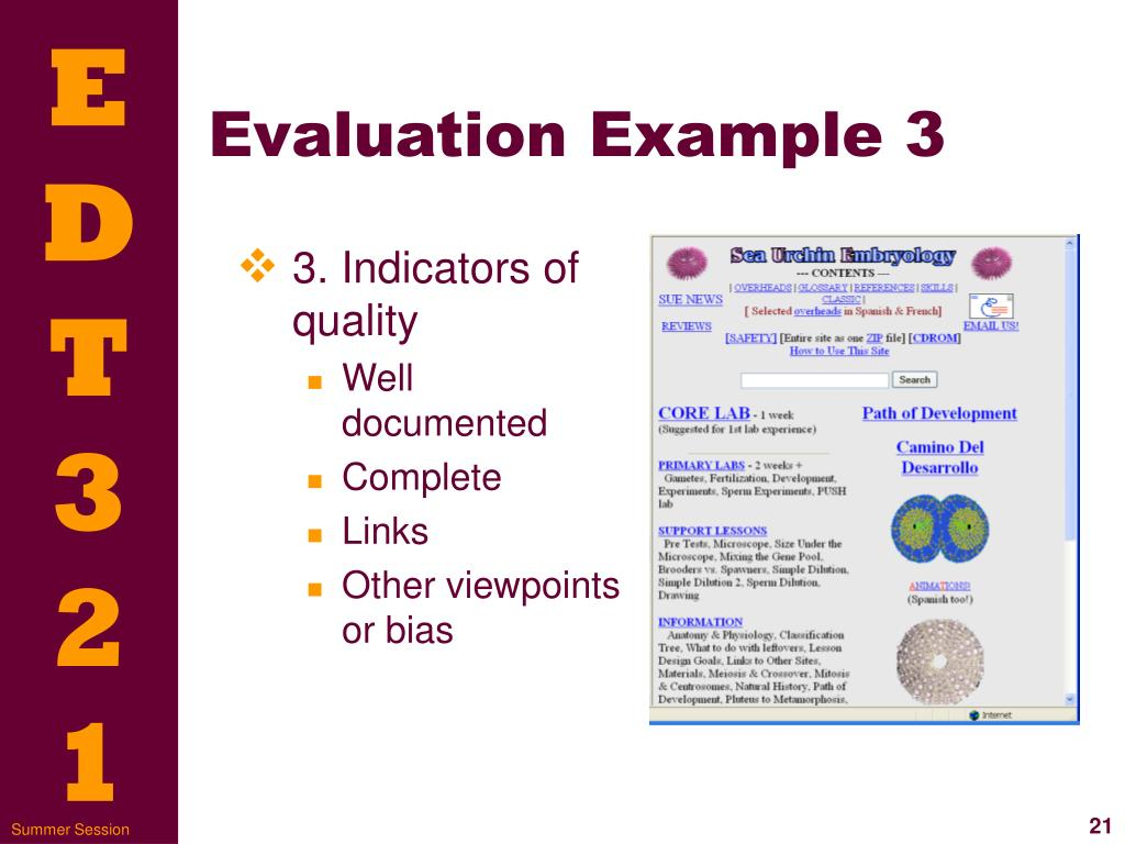 Evaluation Example 3