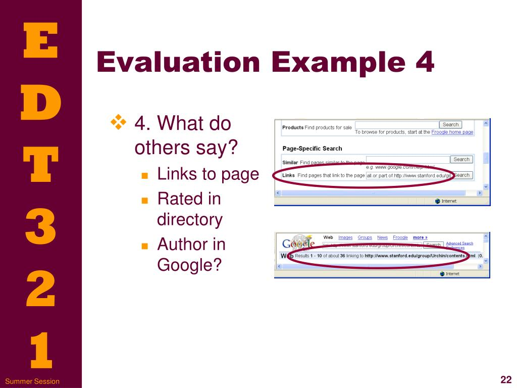Evaluation Example 4