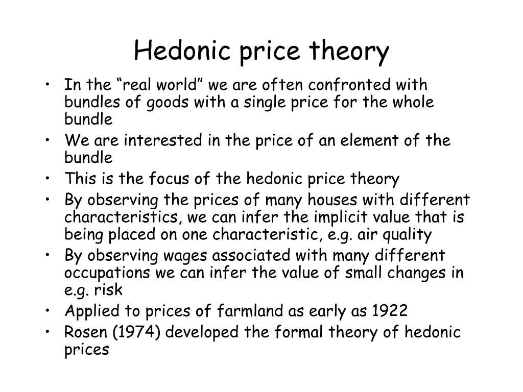 Hedonic price theory