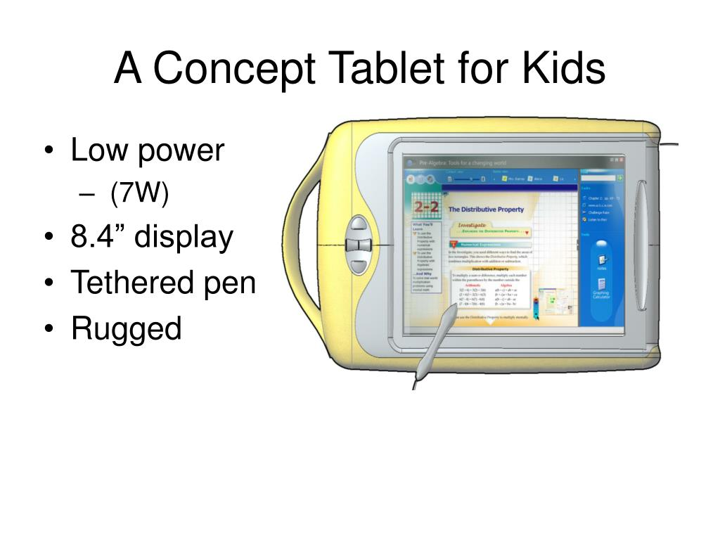 A Concept Tablet for Kids