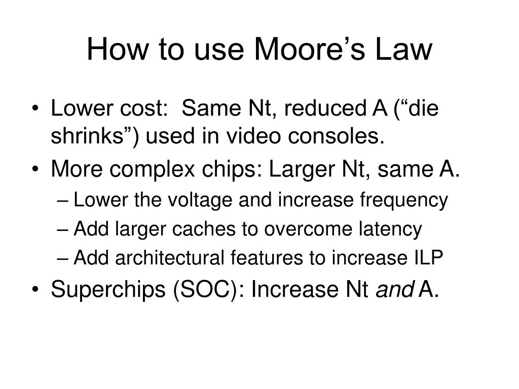 How to use Moore's Law