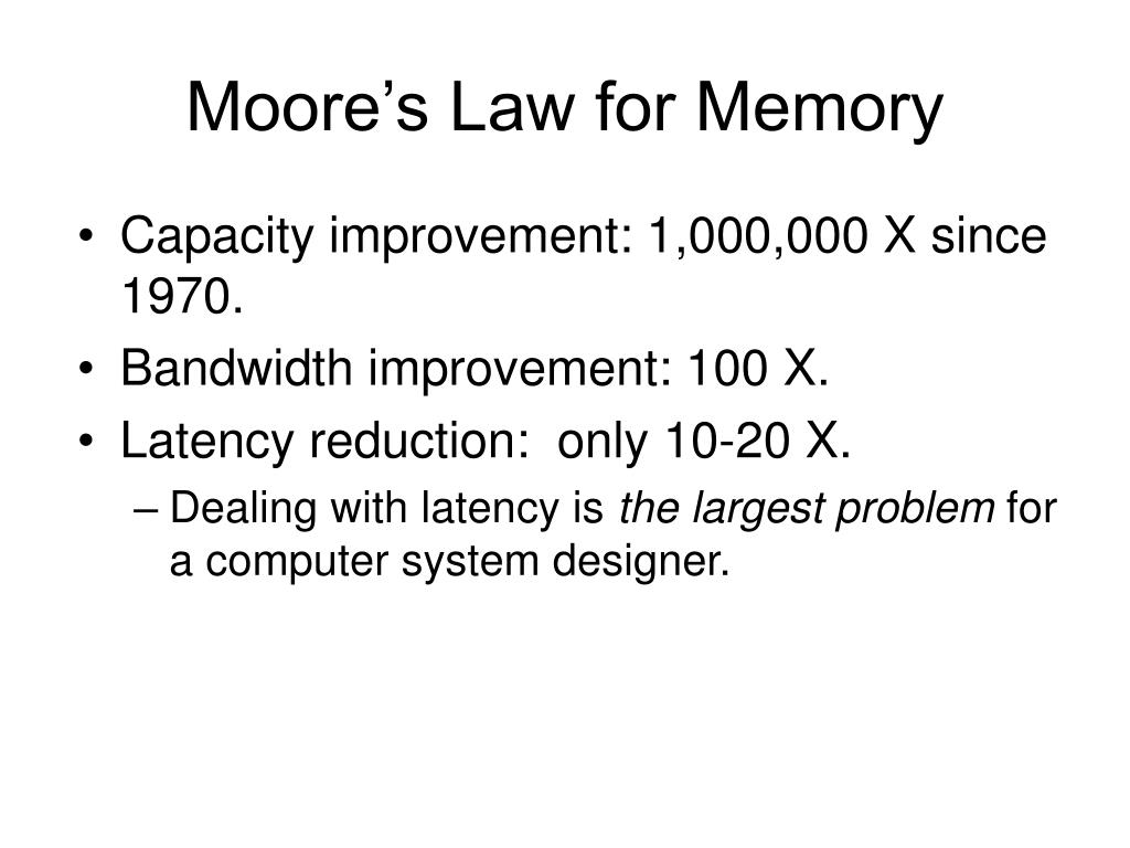 Moore's Law for Memory