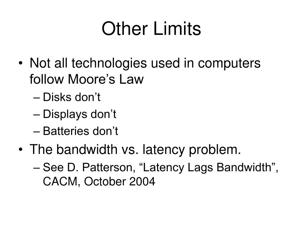 Other Limits