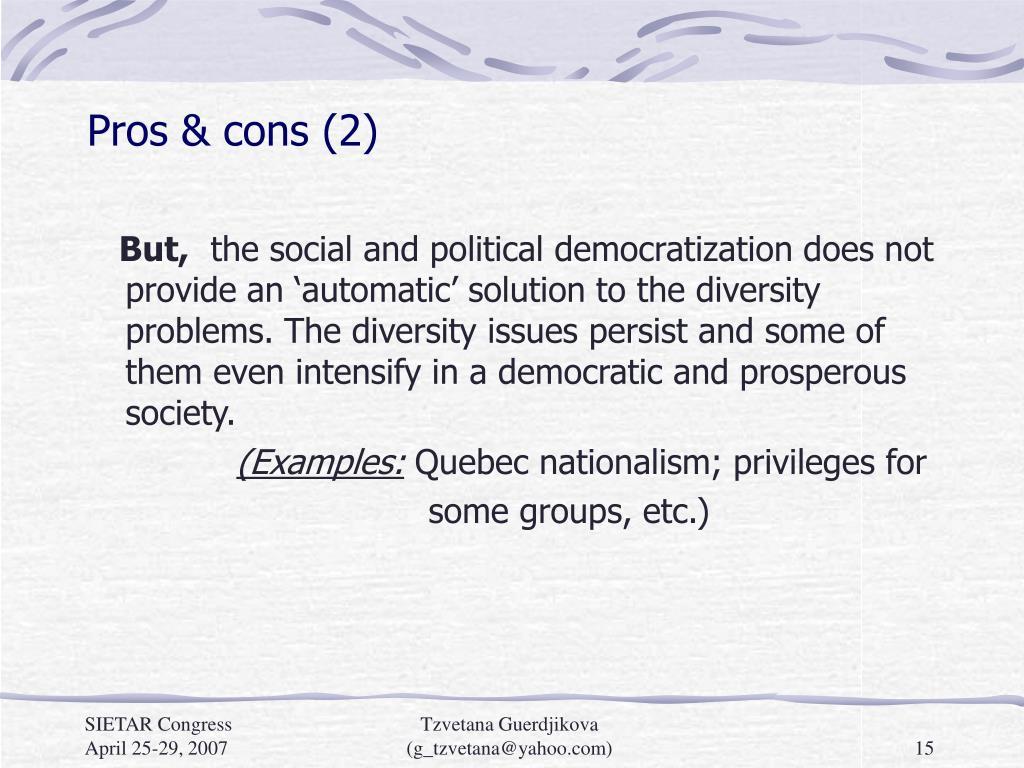 Pros & cons (2)