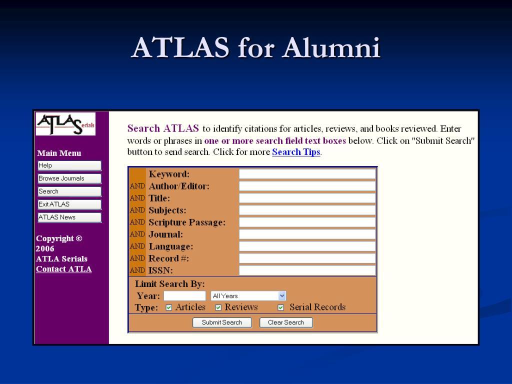 ATLAS for Alumni