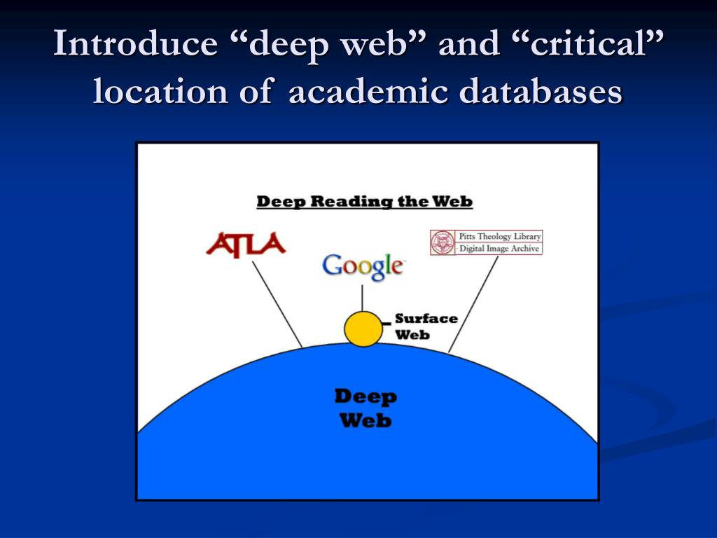 "Introduce ""deep web"" and ""critical"" location of academic databases"
