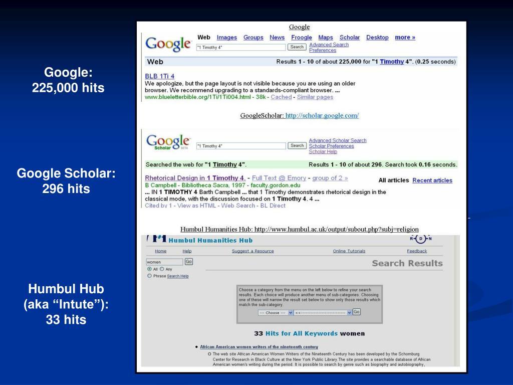 Google: 225,000 hits
