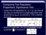 comparing two population proportions significance test