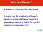 what is a disaster25