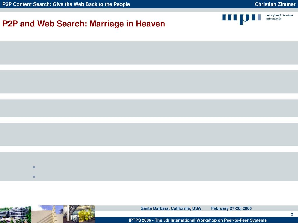 P2P and Web Search: Marriage in Heaven