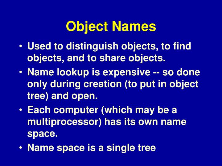 Object Names