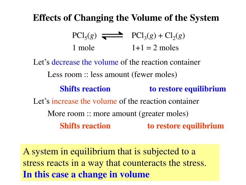 Effects of Changing the Volume of the System