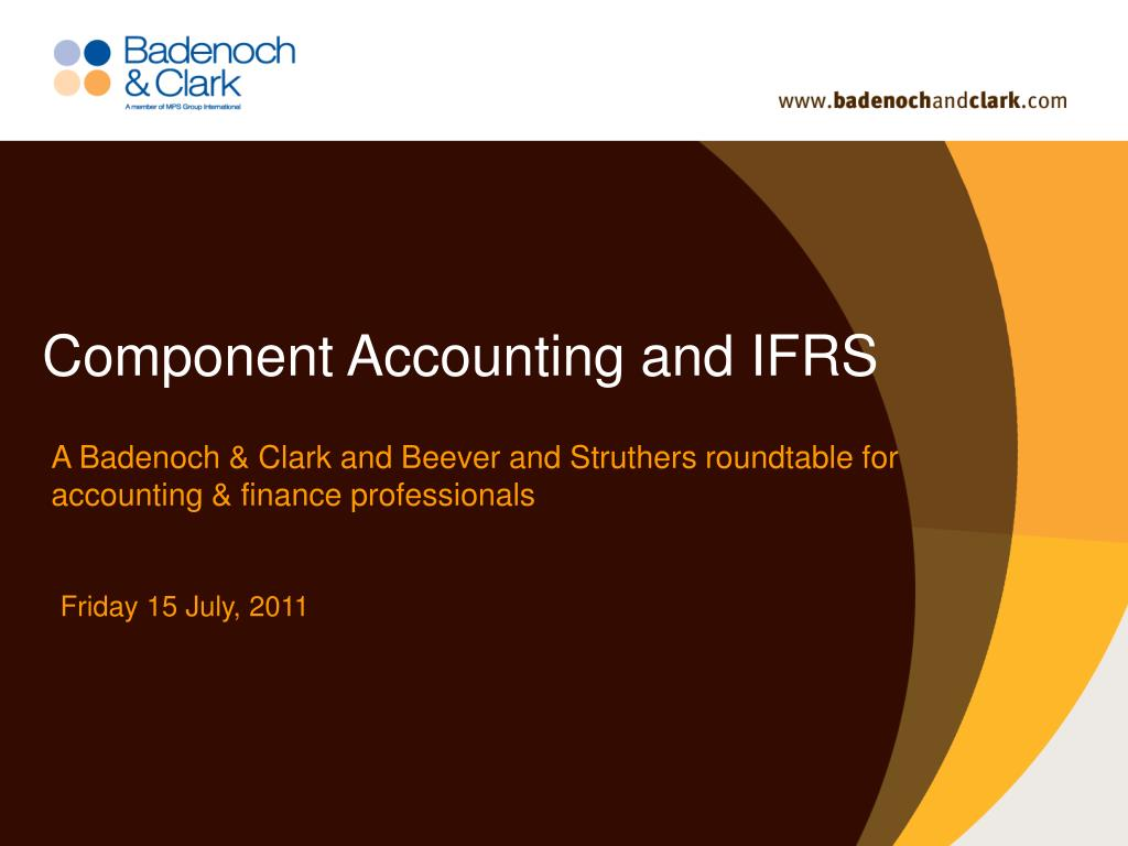 Component Accounting and IFRS