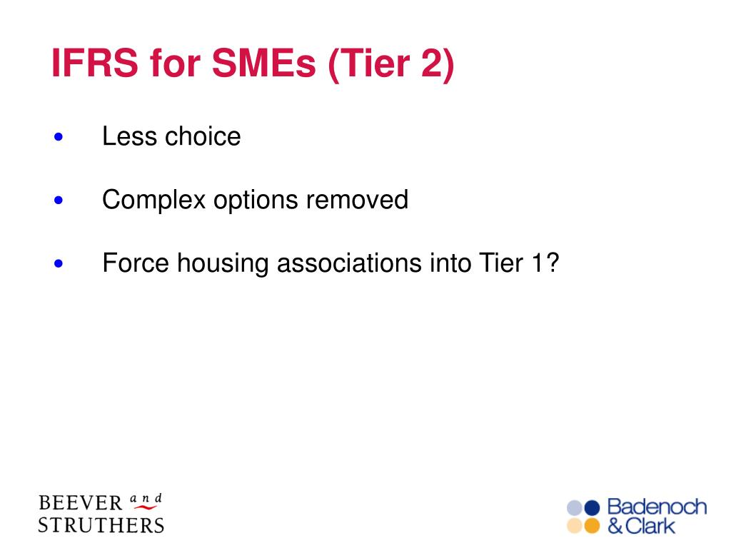 IFRS for SMEs (Tier 2)