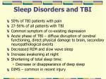 sleep disorders and tbi