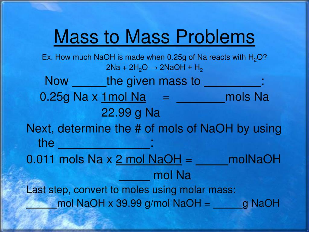 percent by mass solution problems Percent composition of solutions example 1 - calculate the percent by mass of sucrose in a solution made be dissolving 400 g of sucrose in molarity problems.
