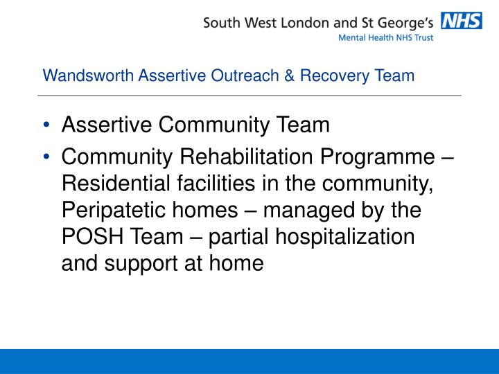 Wandsworth Assertive Outreach & Recovery Team