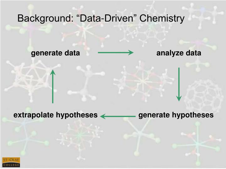 "Background: ""Data-Driven"" Chemistry"