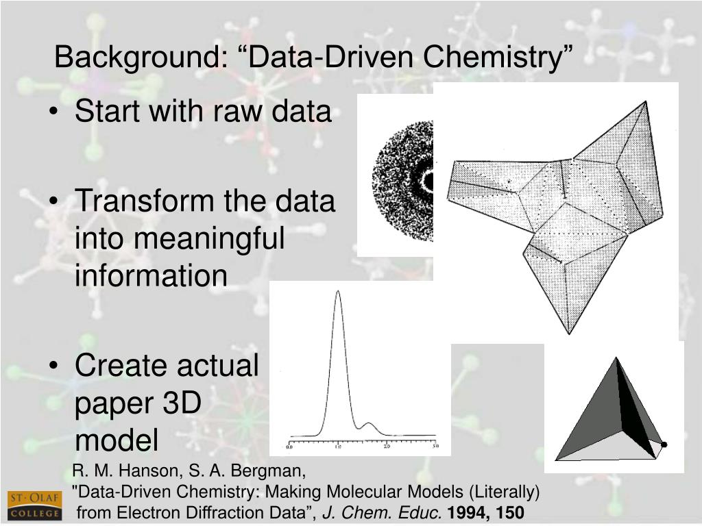 "Background: ""Data-Driven Chemistry"""