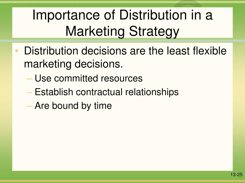 Importance of Distribution in a Marketing Strategy