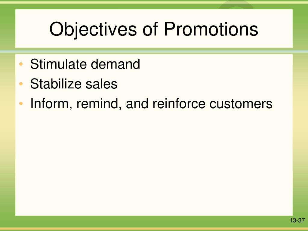 Objectives of Promotions