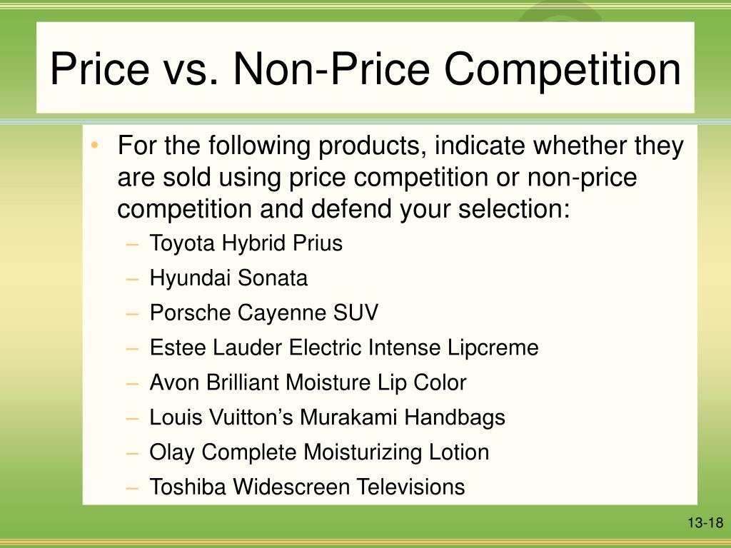 Price vs. Non-Price Competition