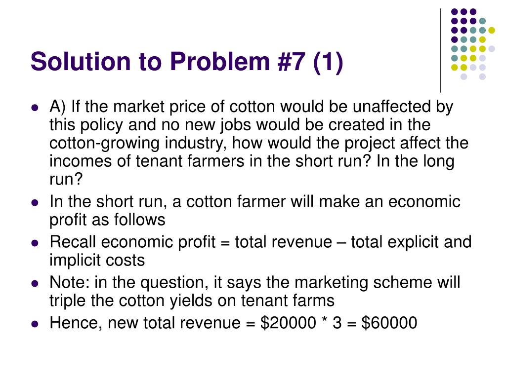 Solution to Problem #7 (1)