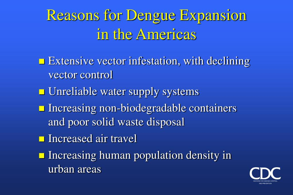 Reasons for Dengue Expansion in the Americas