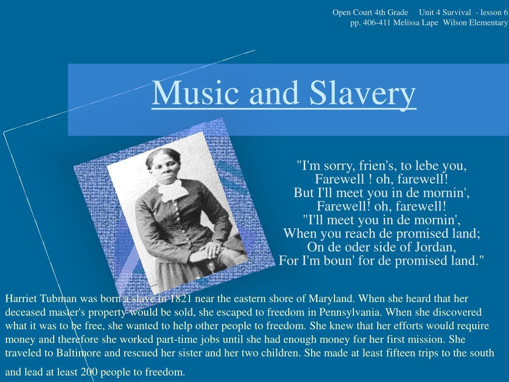 music and slavery