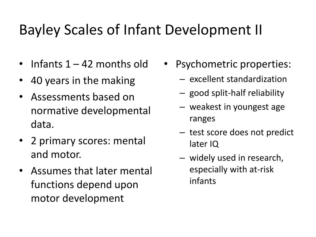Bayley Scales of Infant Development II