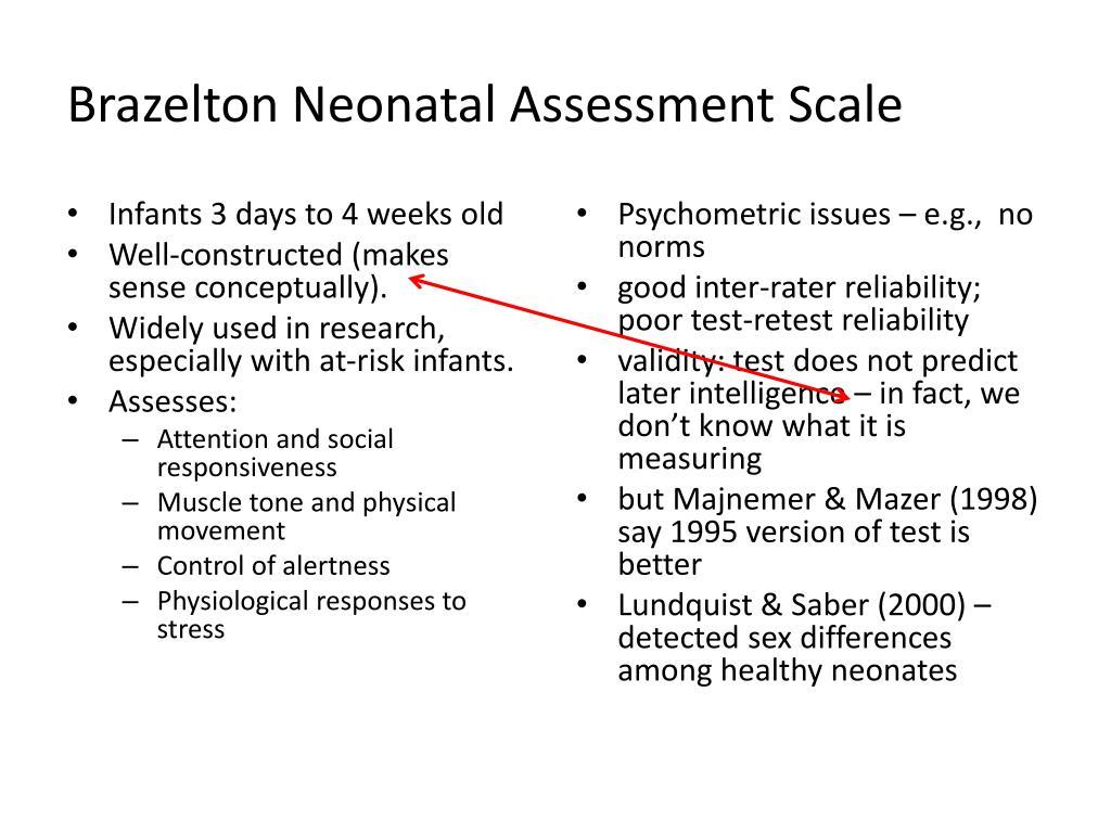 Brazelton Neonatal Assessment Scale