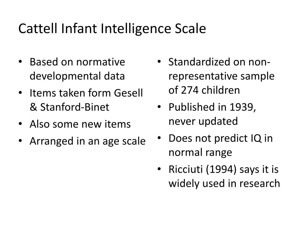 Cattell Infant Intelligence Scale
