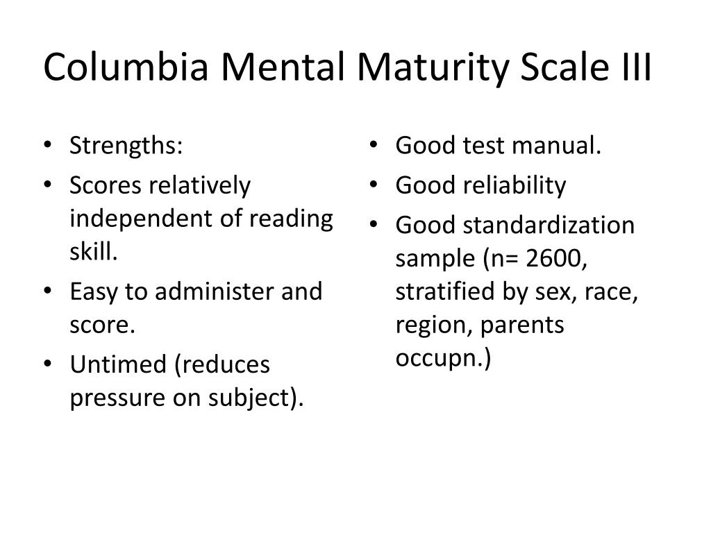 Columbia Mental Maturity Scale III