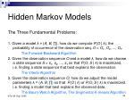 hidden markov models52