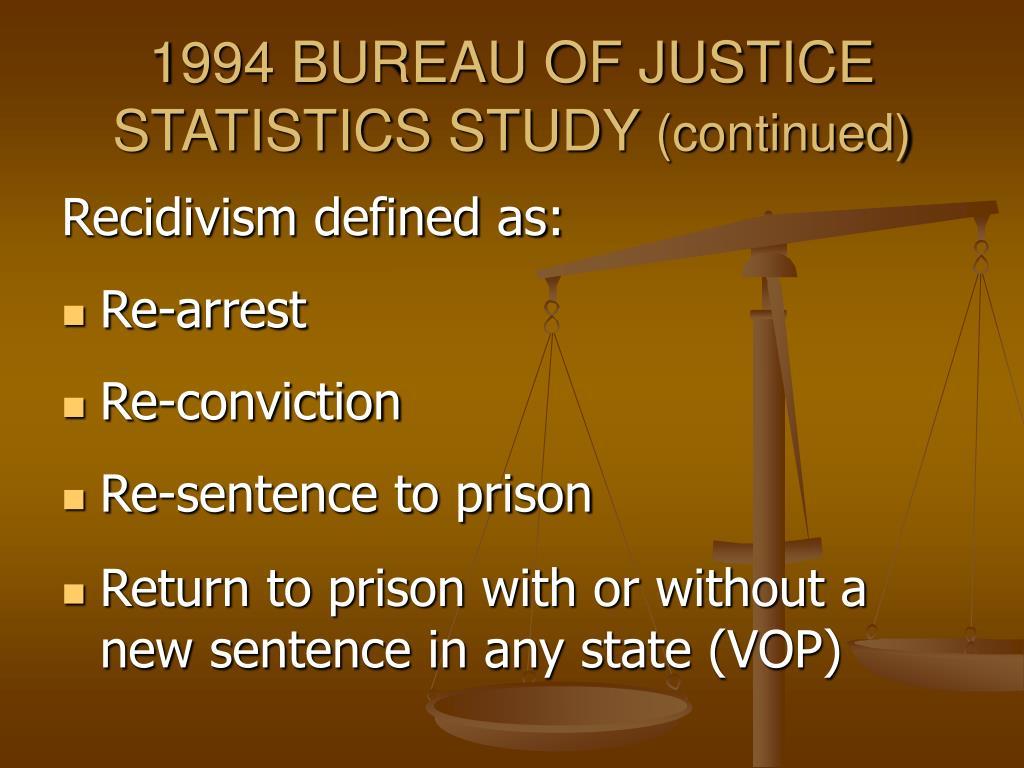 Ppt recidivism study proposal powerpoint presentation for Bureau justice statistics