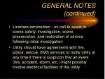 general notes continued8
