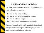 ansi critical to safety