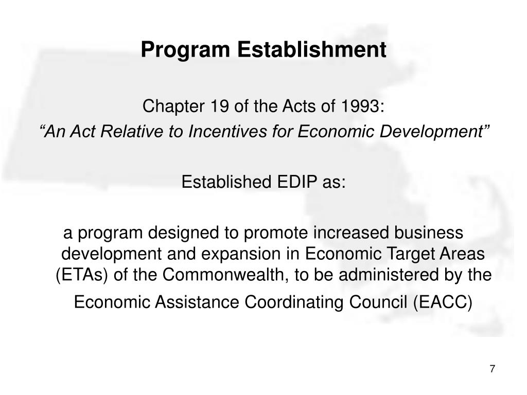 Program Establishment
