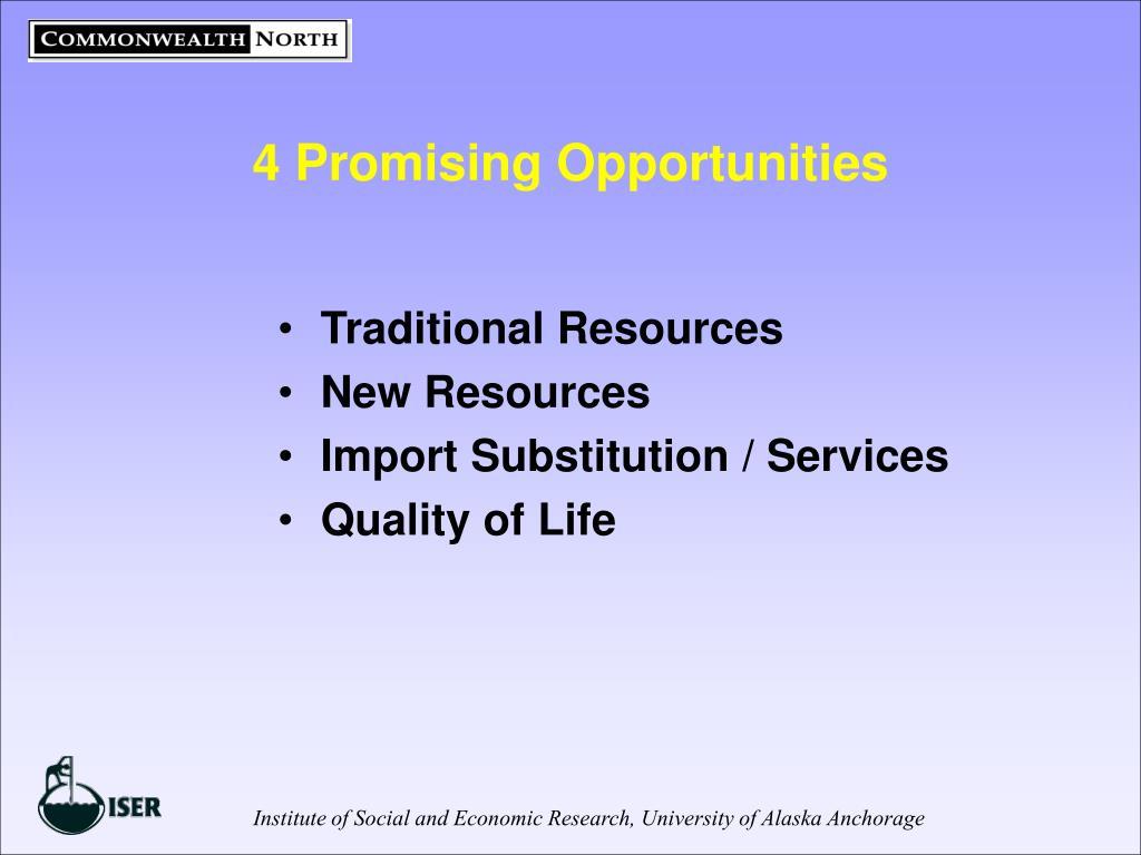 4 Promising Opportunities